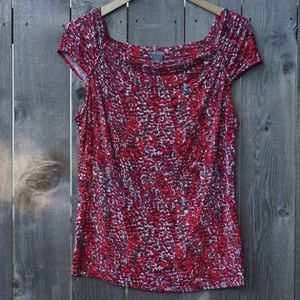 Ann Taylor, Red and Gray Top (size XL)